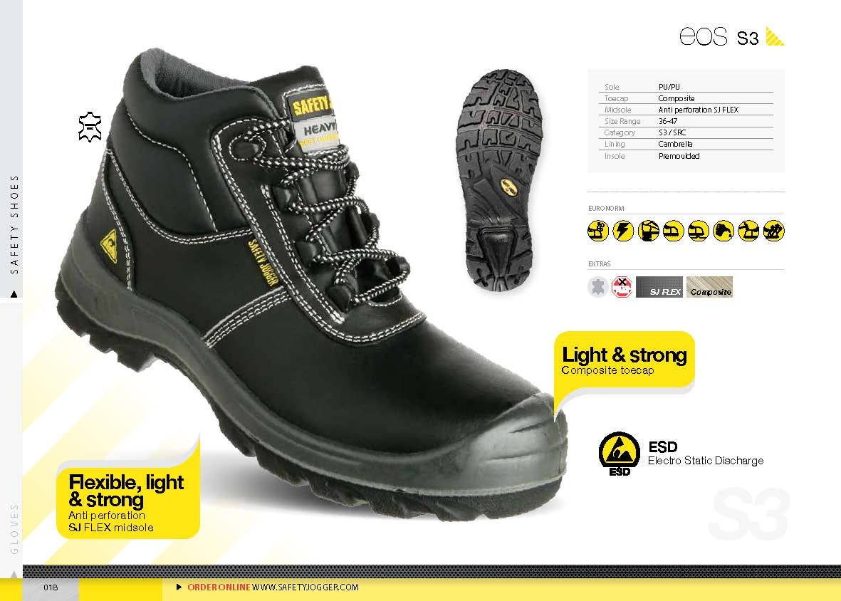 safety shoes safety Jogger Eos S3 ESD