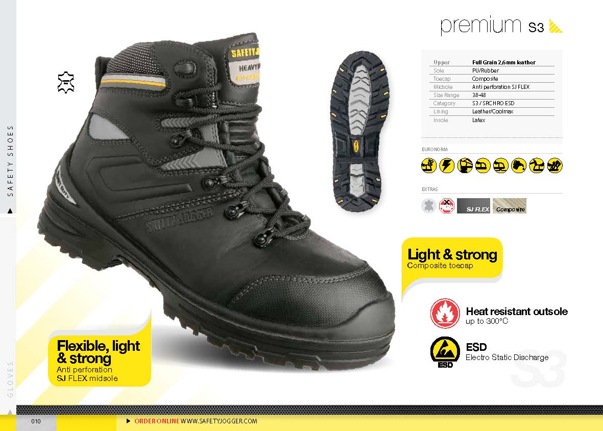safety shoes safety Jogger Premium S3 HRO ESD 300C